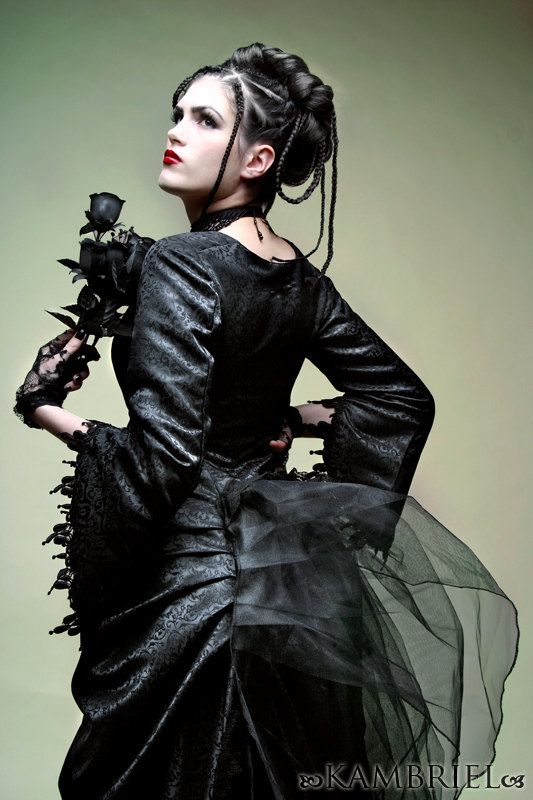 Kambriel: Midnight Bustle Ensemble :  goth black elegant gothic