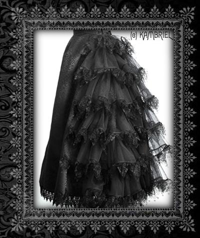 Kambriel: Black Scylla Bustle Skirt